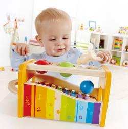 Klopfspiel, Hammerbank für Kinder aus Holz