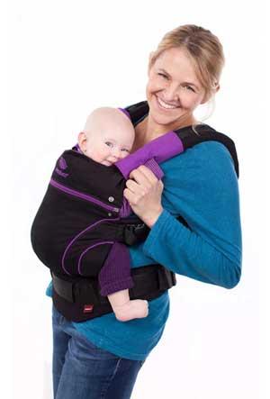 Manduca baby carrier black lila
