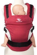 Rote Babytrage Manduca