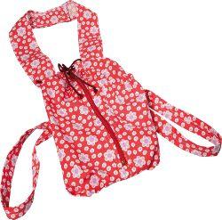 Puppentragesack rot mit Blumen von Glückskäfer