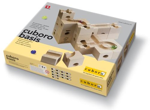cuboro basis - erste holzbauklötze für die murmelbahn,