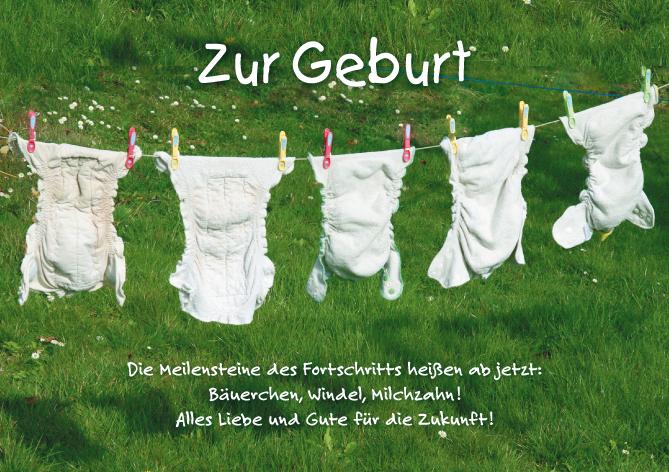 text karte geburt Glückwunschkarte / Grußkarte Geburt mit Spruch   Motiv Windeln