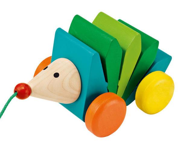 nachziehspielzeug holz igel kasper klip klap von selecta kleinkind ab 1 jahr. Black Bedroom Furniture Sets. Home Design Ideas