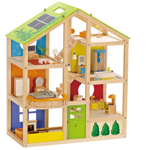 Groses Puppenhaus Aus Holz Von Eichhorn ~ Puppenhaus aus Holz inklusvie Puppenhausmöbel