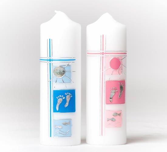 taufkerze junge blau oder m dchen rosa taufkerzen mit namen und datum kaufen. Black Bedroom Furniture Sets. Home Design Ideas