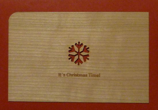 Holz Weihnachtskarten.Weihnachtskarte Aus Holz Bestellen It S Christmas Time