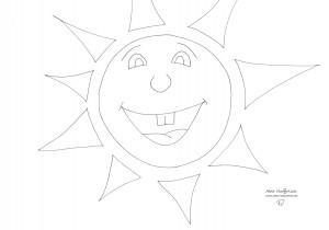 Die Sonne lacht