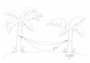 Palmen auf einer Insel