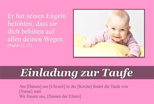 Individuell Und Günstig Einladungskarte Zur Taufe Selber Am