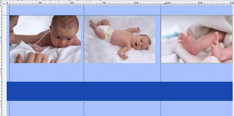 Drei Babyfotos