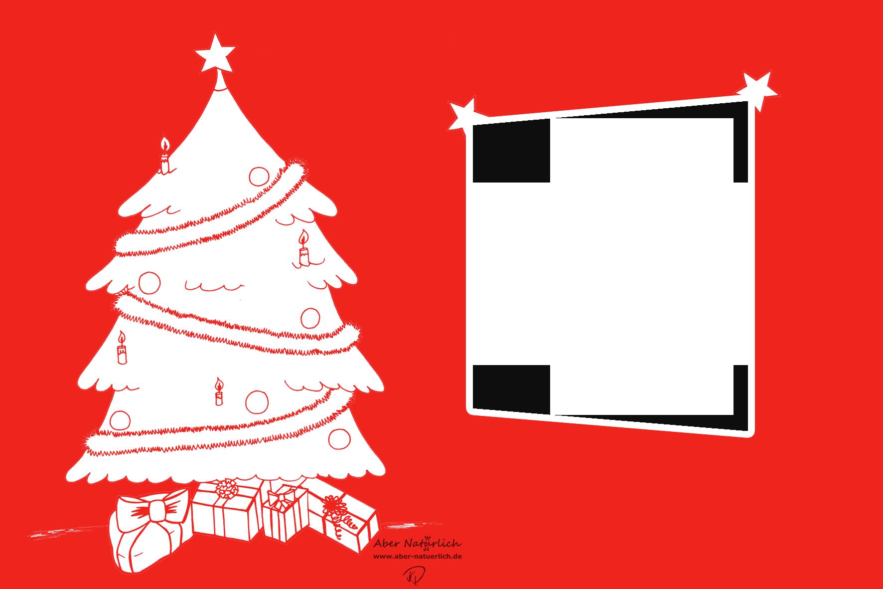 Einfach und g nstig weihnachtskarte selber gestalten for Weihnachtskarten selber basteln vorlagen kostenlos