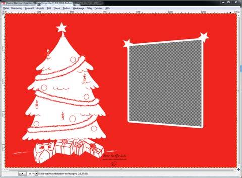 einfach und g nstig weihnachtskarte selber gestalten. Black Bedroom Furniture Sets. Home Design Ideas