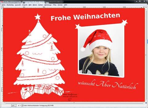 Weihnachtskarte Schrift Frohe Weihnachten