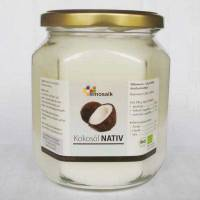 Bio Kokosöl nativ, my mosaik – 500 ml Glas